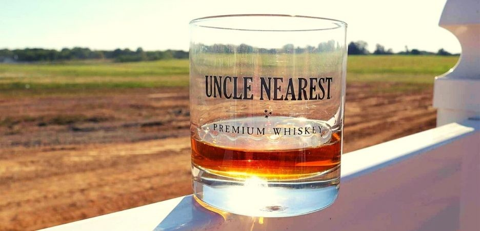 Uncle nearest whiskey on glass